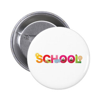 The word school button