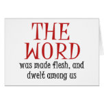 The Word Stationery Note Card