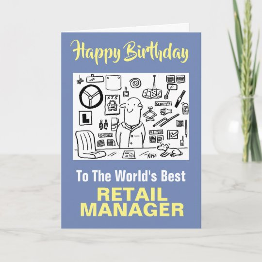 The Word S Best Retail Manager Happy Birthday Card