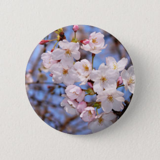 The work of the cherry tree bloom which is Kobe Pinback Button