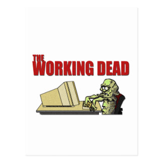 The Working Dead Postcard
