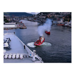 The Working Tugs of Bergen Poster