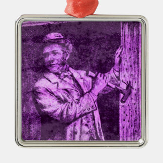 The Workman Metal Ornament