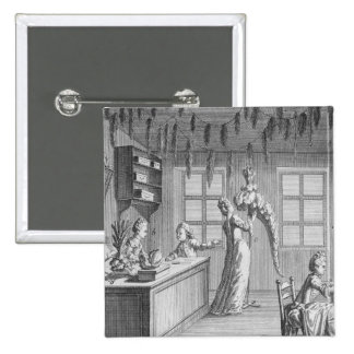 The workshop of a dressmaker, illustration from th button