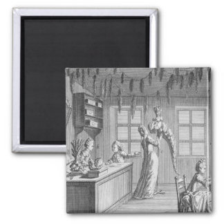 The workshop of a dressmaker, illustration from th magnet