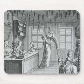 The workshop of a dressmaker, illustration from th mouse pad