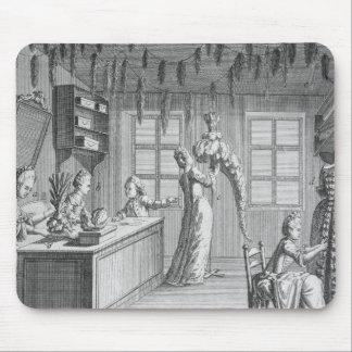 The workshop of a dressmaker, illustration from th mousepads