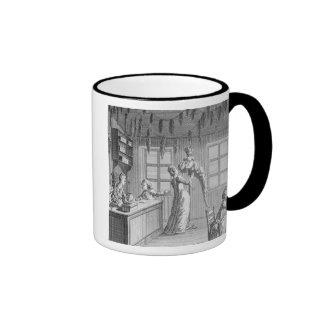 The workshop of a dressmaker illustration from th coffee mug