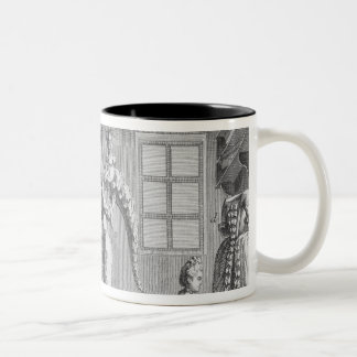 The workshop of a dressmaker, illustration from th Two-Tone coffee mug