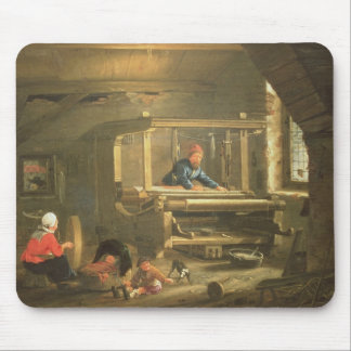 The Workshop of a Weaver, 1656 (oil on canvas) Mouse Pad