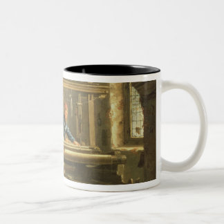 The Workshop of a Weaver 1656 oil on canvas Coffee Mug