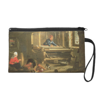 The Workshop of a Weaver, 1656 (oil on canvas) Wristlet