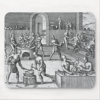 The workshop of Atahualpa's goldsmiths in Quito, f Mouse Pad