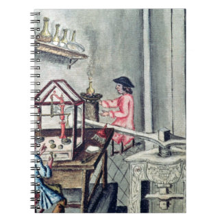 The Workshop of Silversmiths, from a silversmith b Spiral Note Book
