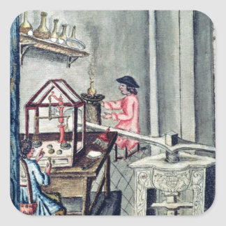 The Workshop of Silversmiths, from a silversmith b Square Sticker