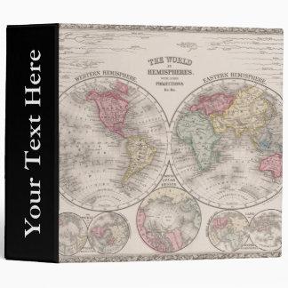 The world 1860 - Eastern & Western hemispheres 3 Ring Binder