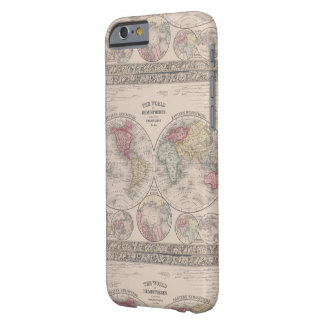 The world 1860 - Eastern & Western hemispheres Barely There iPhone 6 Case