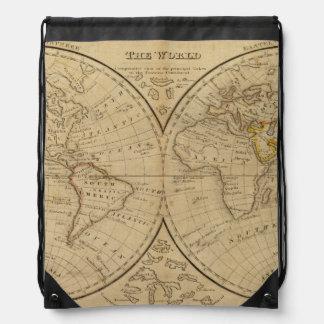 The World 3 Drawstring Bag