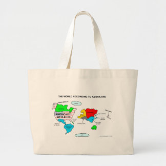 The World According to Americans Tote Bags