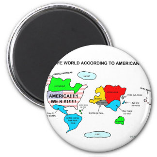 The World According to Americans Magnet