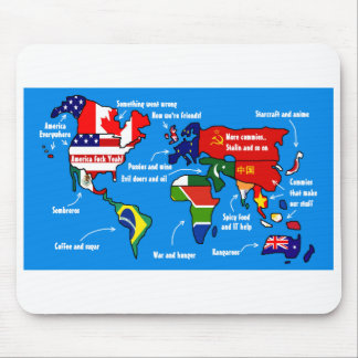 The world according to americans - Mousepad