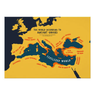 The World According to Ancient Greeks Poster
