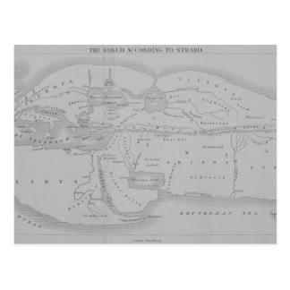 The World According to Strabo Postcard