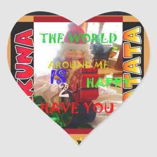 The world around Me is happy to Have You colors Me Heart Sticker