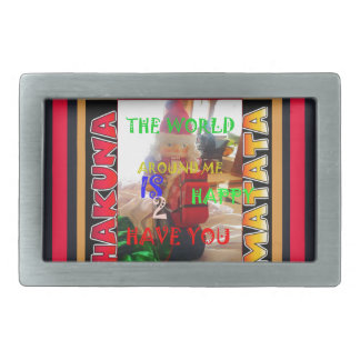 The world around Me is happy to Have You colors Me Rectangular Belt Buckle