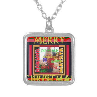 The world around Me is happy to Have You colors Me Silver Plated Necklace