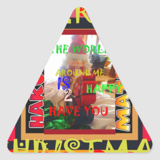 The world around Me is happy to Have You colors Me Triangle Sticker