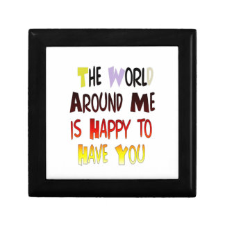 The World Around Me is Happy To Have You Gift Box