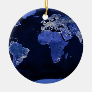 The World at Night - Map, Space Ceramic Ornament
