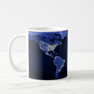 The World at Night - Map, Space Coffee Mug