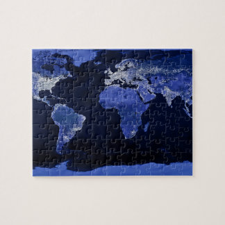 The World at Night - Map, Space Jigsaw Puzzle