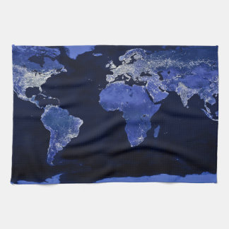The World at Night - Map, Space Towel