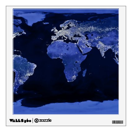 The World at Night - Map, Space Wall Skins
