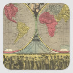 The World At One View Square Sticker