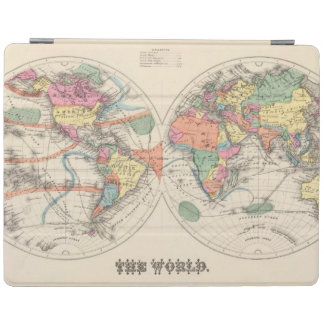 The world Atlas map with currents and trade winds iPad Smart Cover