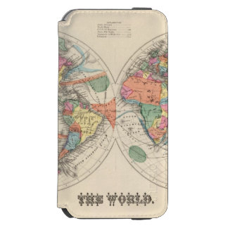 The world Atlas map with currents and trade winds iPhone 6/6s Wallet Case