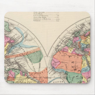 The world Atlas map with currents and trade winds Mouse Pad