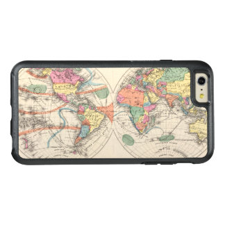 The world Atlas map with currents and trade winds OtterBox iPhone 6/6s Plus Case