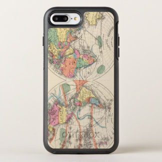 The world Atlas map with currents and trade winds OtterBox Symmetry iPhone 8 Plus/7 Plus Case