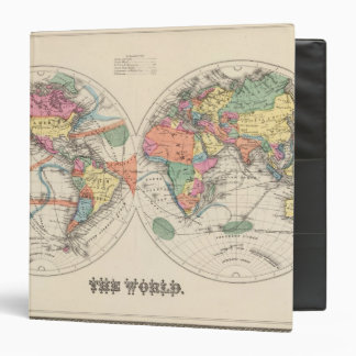 The world Atlas map with currents and trade winds Vinyl Binder