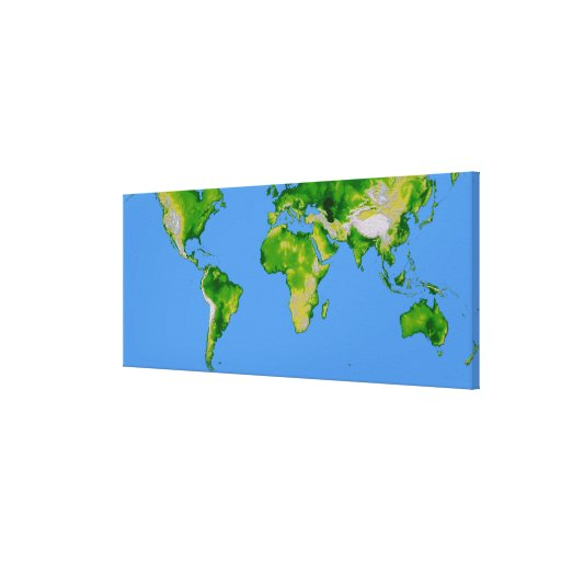 The World Stretched Canvas Prints