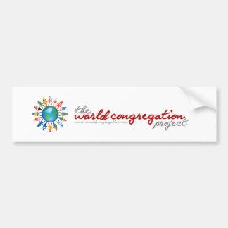 The World Congregation Project Bumper Sticker Car Bumper Sticker