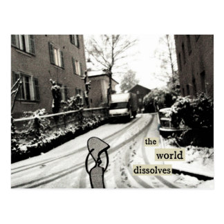 the world dissolves postcards