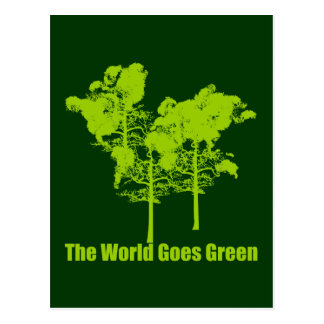 The World Goes Green Postcard