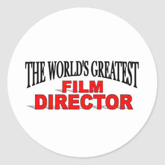 The World&' Greatest Film Director Classic Round Sticker