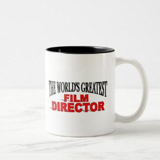 The World&' Greatest Film Director Two-Tone Coffee Mug